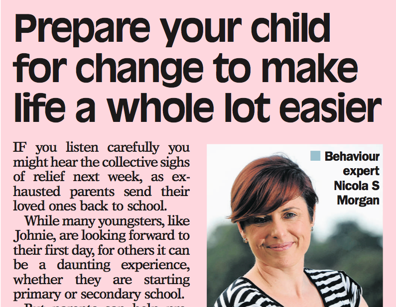 Prepare your child for change to make life a whole lot easier
