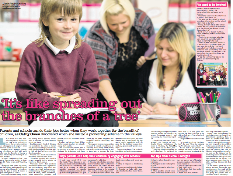 'It's like spreading out the branches of a tree' Llwynypia Primary School Family Engagement