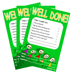 Positive Playtime Note Pads – Well Done